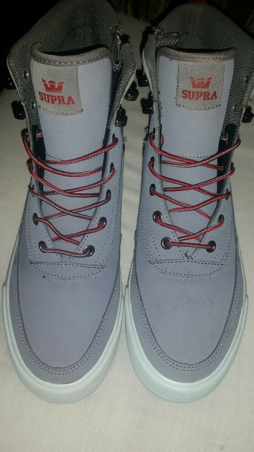 NEW SUPRA OAKWOOD OAKWOOD OAKWOOD GREY-GREY VIOLET Uomo SHOE SZ 9 c65043