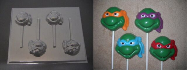 TMNT Teenage Mutant Ninja Turtle Face Lollipop Chocolate Candy Soap Mold NEWEST