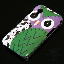 Samsung Galaxy ACE S5830 Hard Handy Case Schutz Hülle Etui Eule Grün Owl Schale