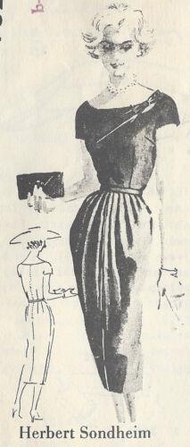 """R95 Vestido Vintage 1950s patrón de costura B40/"""" por /""""Herbert Sondheim/"""""""