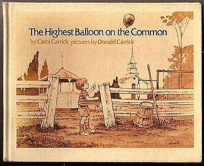Vintage 1977 The Highest Balloon On The Common Carol Carrick Hardback Kids Book