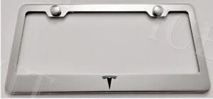 NISMO Stainless Steel Metal Black License Plate Frame Rust Free W// Caps