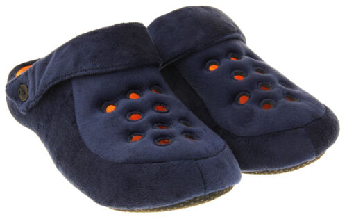 Para Hombre Dunlop Correa Trasera Acolchada Polar Zueco Mule Zapatillas Tamaño 6 7 8 9 10 11 12 13