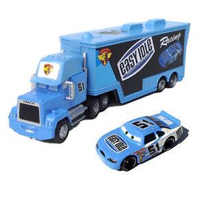 Cars 51 Easy Idle Mack Hauler Truck Racer Metal Toy Car 1 55