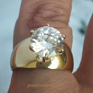 Solid-14k-Yellow-Gold-Solitaire-round-man-made-Diamond-Engagement-Ring-3-ct-S7