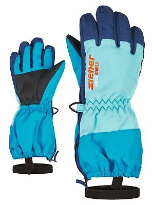 Ziener Kinder Skihandschuhe Fingerhandschuhe AGIL AQUASHIELD® glove schwarz grün