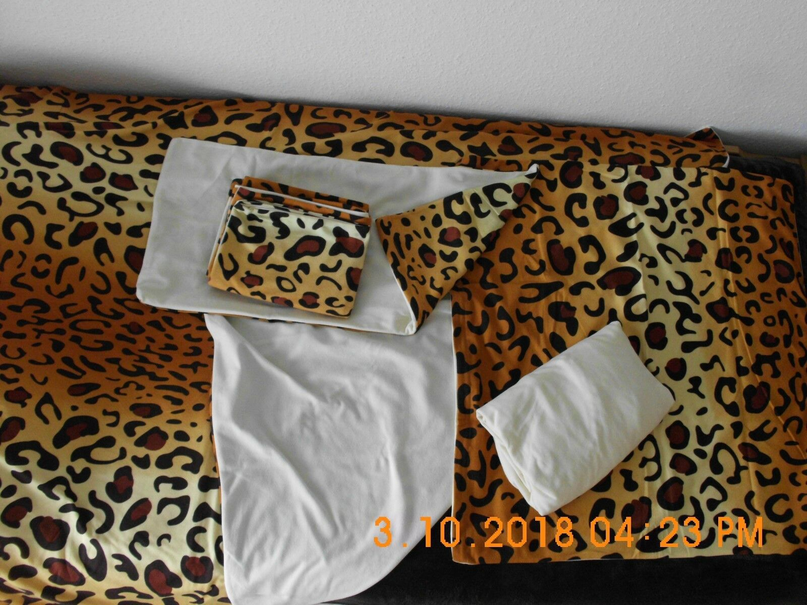 Fleece -Bettwäsche 7-teilig neuwertig mit Reißverschluss   | Fairer Preis