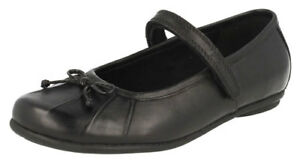 1 plus Nouveau cuir Clarks Chaussures pour Black de Efg filles Abby 4 Boxed Tasha âgées 1xqURw1P