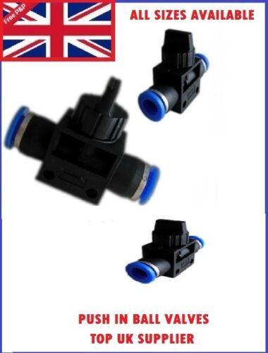 Nylon pneumatique push valve en compagnie connecteur inline