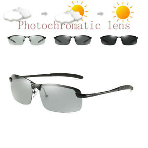 69879b2ea1 Image is loading Men-Metal-Photochromic-Polarized-Sunglasses-Transition-Lens -Driving-