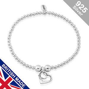 Trink Initial 'N' Letter Charm Sterling Silver Beaded Bracelet wNslfnP4B