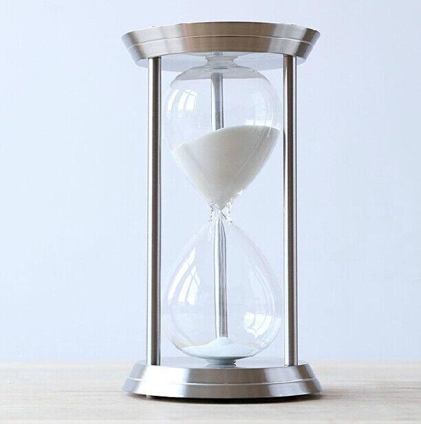 60 Minuten Metall Sanduhr Glas Sand Uhr Eieruhr Timer Sanduhren Stundenglas
