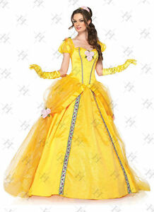 Adult Belle Cosplay Costume Beauty And The Beast Princess Fancy