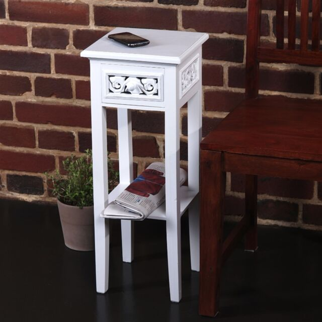 TELEPHONE TABLE COUNTRY SIDE STYLE | white washed, wood | side table