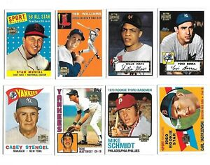 Details About 2001 Topps Archives Baseball Complete Set 450 Cards