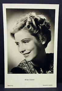Else-Elster-Actor-Movie-photo-Foto-Autogramm-Karte-AK-Lot-Z-2368