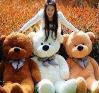 Uk 4 Colors Teddy Bear Plush Soft Toy Giant Huge Big Stuffed Animal Toys 100cm
