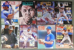 Details About Beckett Baseball Card Monthly Price Guide Lot Of 8 Magazines Topps Magazine