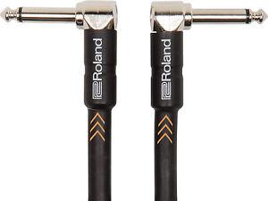 Roland-RIC-B3AA-Instrumentenkabel-Black-Serie-1m-2-x-Winkelklinke-6-3mm