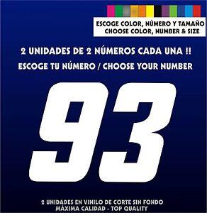 2X-Sticker-Vinilo-Escoge-color-tamano-y-numero-Pegatina-Vinyl-Coche-Moto