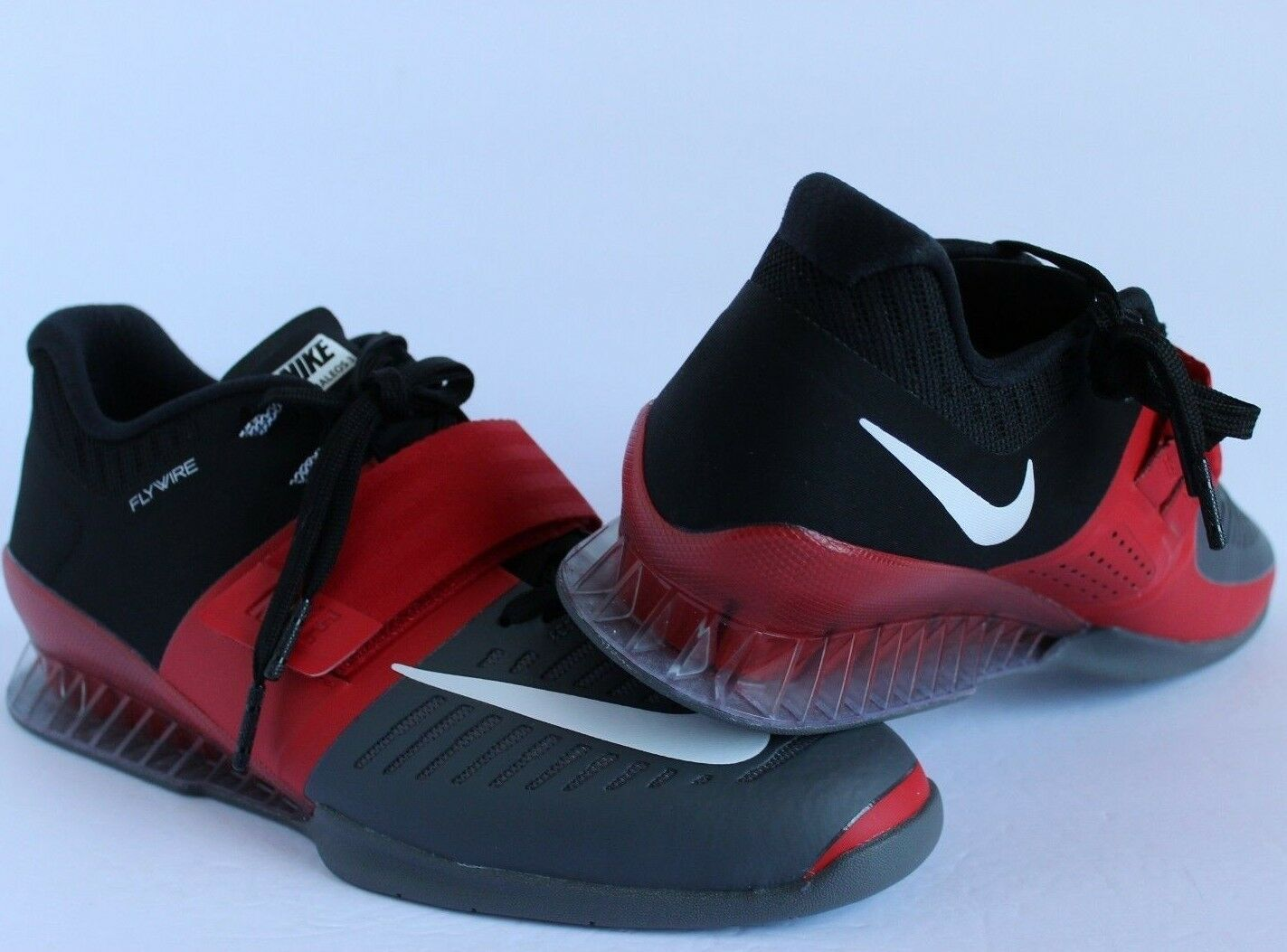 New Sz 12 Mens Nike Romaleos 3 Black Red Crossfit Weightlifting Shoes 852933-600