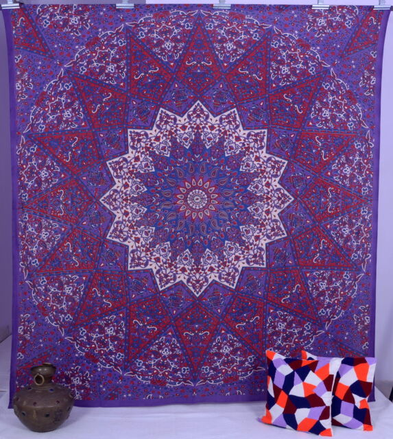 Indian Star Hippie Mandala Psychedelic Wall Hanging Queen Tapestry Throw Ethnic