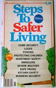 Steps-to-Safer-Living-1980-Vintage-Pillsbury-Paperback-Book-Color-Home-Economics