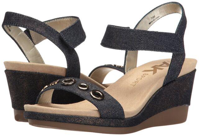 42540e3c8e9 New AK Anne Klein Sport Womens Pelonia Fabric Sandals Size 8.5 (M) Retail   90.00