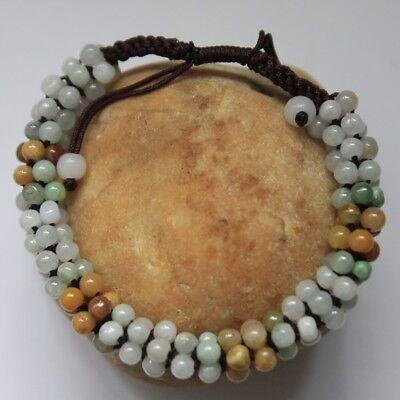 Jadeite Coin Round Bead Bracelet New Natural Grade A 18mm Light Green Jade