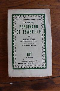 la-vie-de-FERDINAND-et-ISABELLE-Eugenio-d-039-ORS-ed-NRF-Gallimard-1932