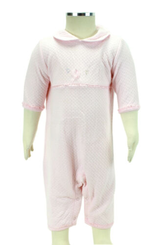 JACADI Girls Activer Pale Pink Cotton Jumpsuit With Collar Size 6 Months NWT $54