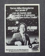 G010-Advertising Pubblicità-1983 - SUPER FLASH MIKE BONGIORNO SU CANALE 5