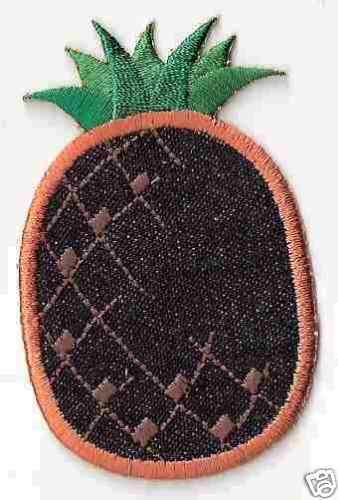 "3/"" Denim Jean Pineaple Fruit Embroidery Applique Patch"