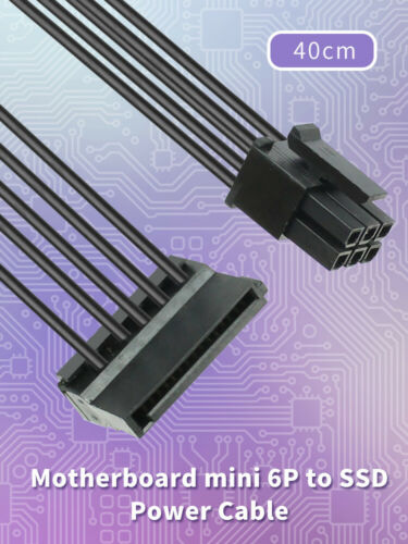 3670 Motherboard 6P to SATA SDD Power Cable for DELL Vostro 3070 SATA Cable 40CM