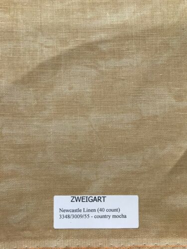 Zweigart Newcastle Linen 40 Count Vintage 18 x 27 Cross Stitch Embroidery