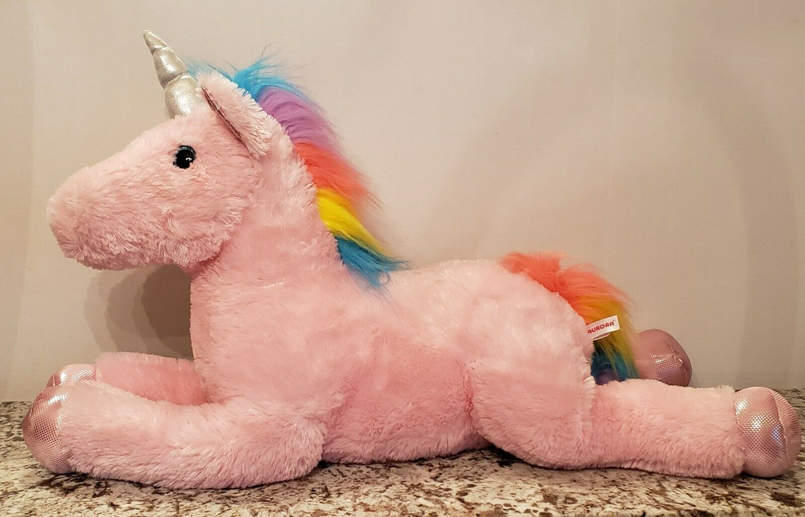 Jumbo Unicorn Pink Plush Giant Rainbow  LARGE Stuffed Animal.