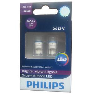 PHILIPS-XTREME-VISION-360-LED-T10-W5W-CAR-BULBS-8000K