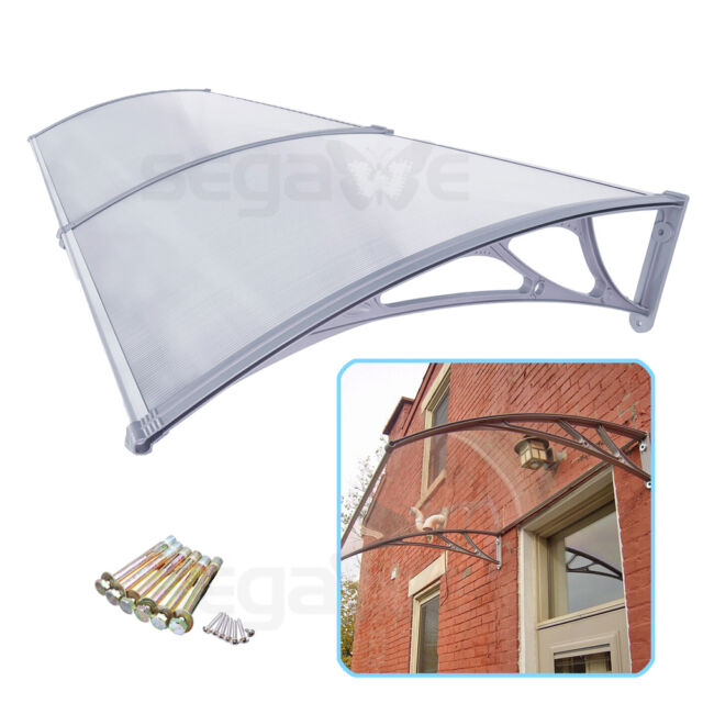 40″×80″ Polycarbonate Awning Patio Canopy For Window&Door Rain Snow Protection