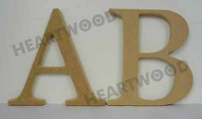 GEORGIA LETTERS IN MDF (150mm x 12mm thick)/WOODEN CRAFT SHAPE/BLANK DECORATION