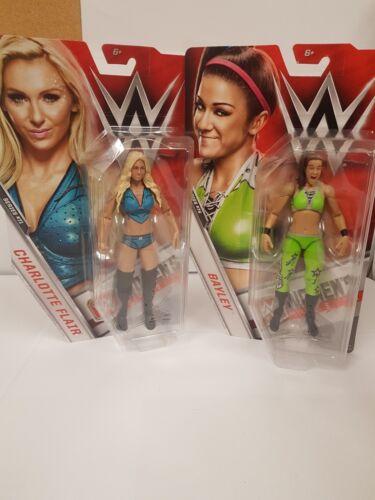 WWE Diva Charlotte Flair /& Bayley womans wrestling figures WWF