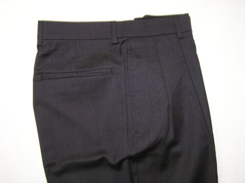 $195 new Jos A Bank Traveler Dark Grey check pleated pants 29 W S rise reg fit