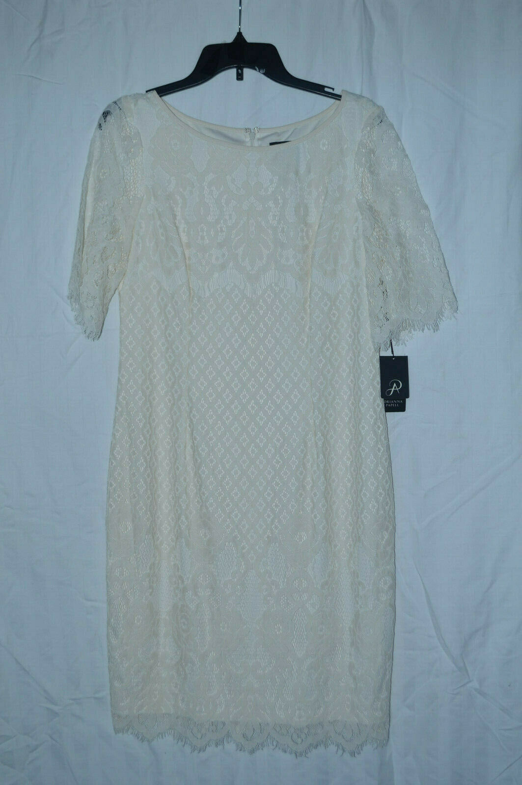 Adrianna Papell Womens Bell Sleeve Georgia Lace Sheath Dress Dress