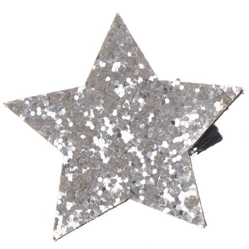 Sternform Metall Kinder Snap Glitter Haarspangen Haarspangen Mädchen NettesYEDE