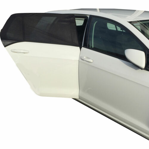 Kids Car Rear Window Sun Shade Mesh Sock x2 Black Curve Accessories Simply SUN11