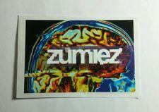 ZUMIEZ GREEN RED BIOHAZARD SYMBOLS 2x3 MUSIC STICKER
