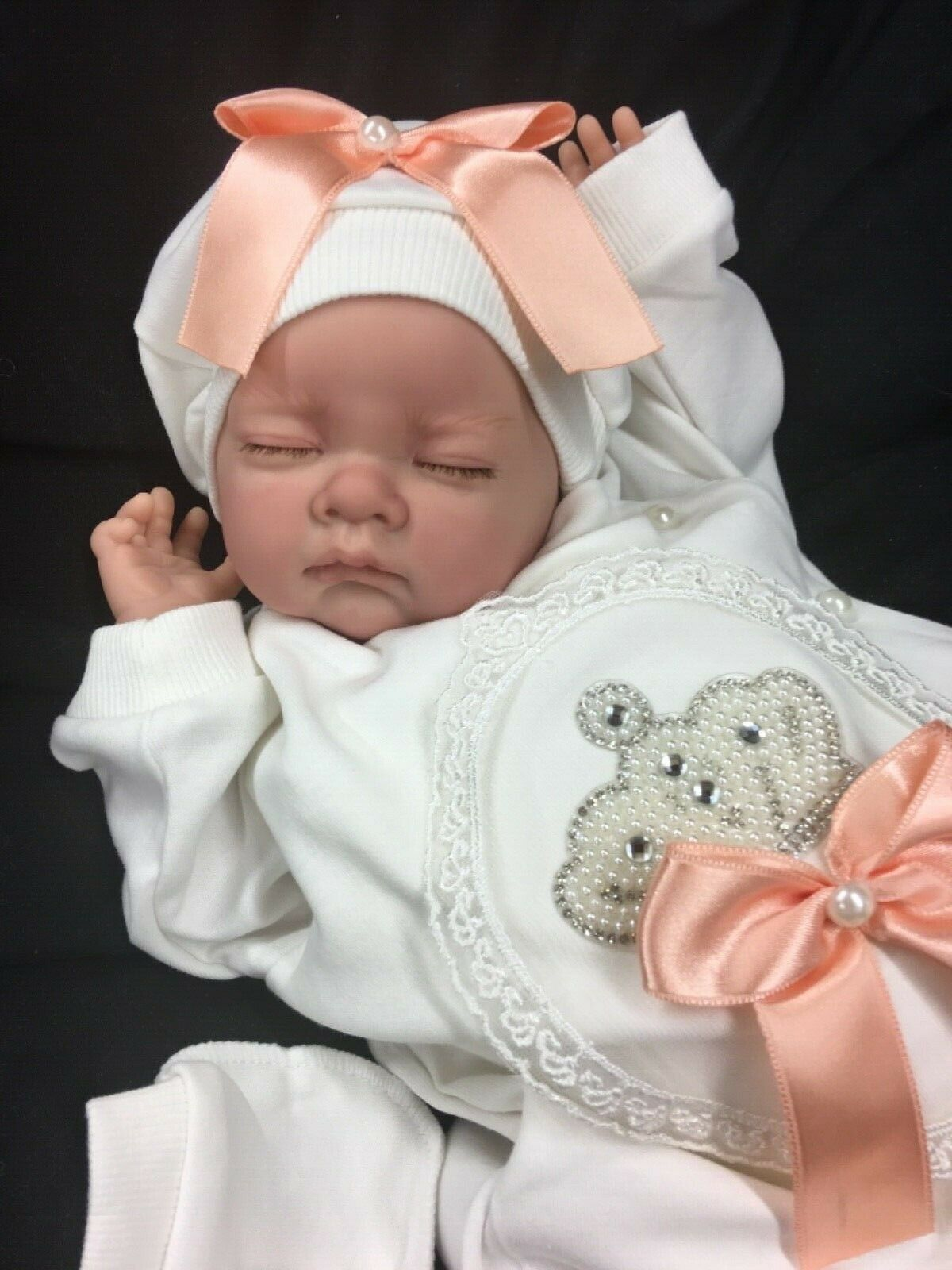 REBORN GIRL VALUE BABY FIRST REBORN STUNNING OUTFIT BLINGY ROMANY S PEACH