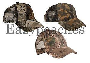 New Port Camo Hunting Cap Mesh Back Baseball Trucker Hat