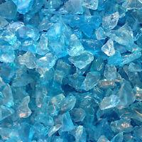 Crystal Blue (turquoise) Sea Glass (1LB Bag) Recycled & Tumbled BULK, Wedding