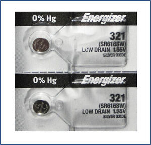 2 pcs 321 SR616SW Energizer Batteries
