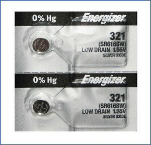 2-Pack-Energizer-321-SR616SW-SILVER-OXIDE-WATCH-BATTERIES-Ships-from-USA